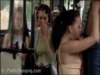 Very COOL video of PUBLIC sex in a BUS