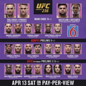 UFC 236 PPV Holloway Vs Poirier 2 HDTV x264<font color=#39a8bb>-PUNCH[TGx]</font>