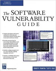 Software Vulnerability Guide