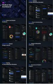DesignOptimal - Medical App Dashboard - MedUX Dark UI Kit