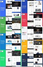 DesignOptimal - 11 Landing Pages PSD Templates