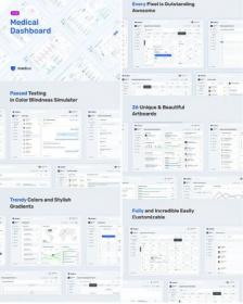 DesignOptimal - Light Medical Dashboard - Sketch UI KIt MedUX