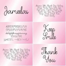 DesignOptimal com - Jameelas Font